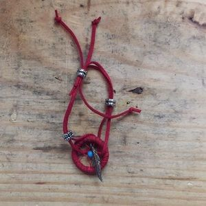 Jewelry - Burgundy Dream Catcher Bracelet